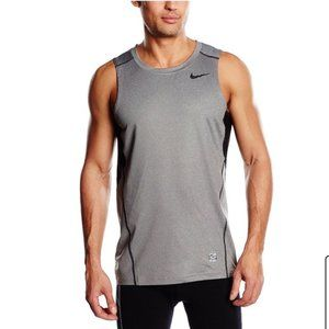 Nike Performance Pro Grey Hypercool Fitted Tank L